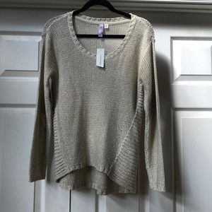 Francesca's taupe sweater w/ elbow patches! NWT!